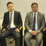 Wang Guiqing - Vice-Presidente do CCCME/ Yu Yong - Consul Comercial do Consulado da República Popular da China em Sao Paulo